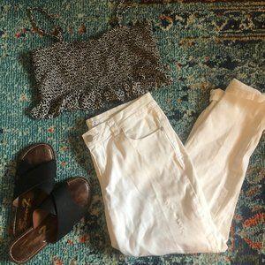 Style & Co. White Boyfriend Jeans